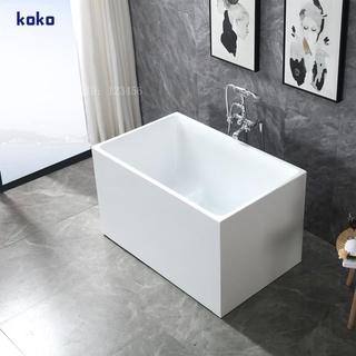 小浴缸家用小戶型日式深泡亞克力獨立一體式可移動坐式超迷你方缸 雲林縣
