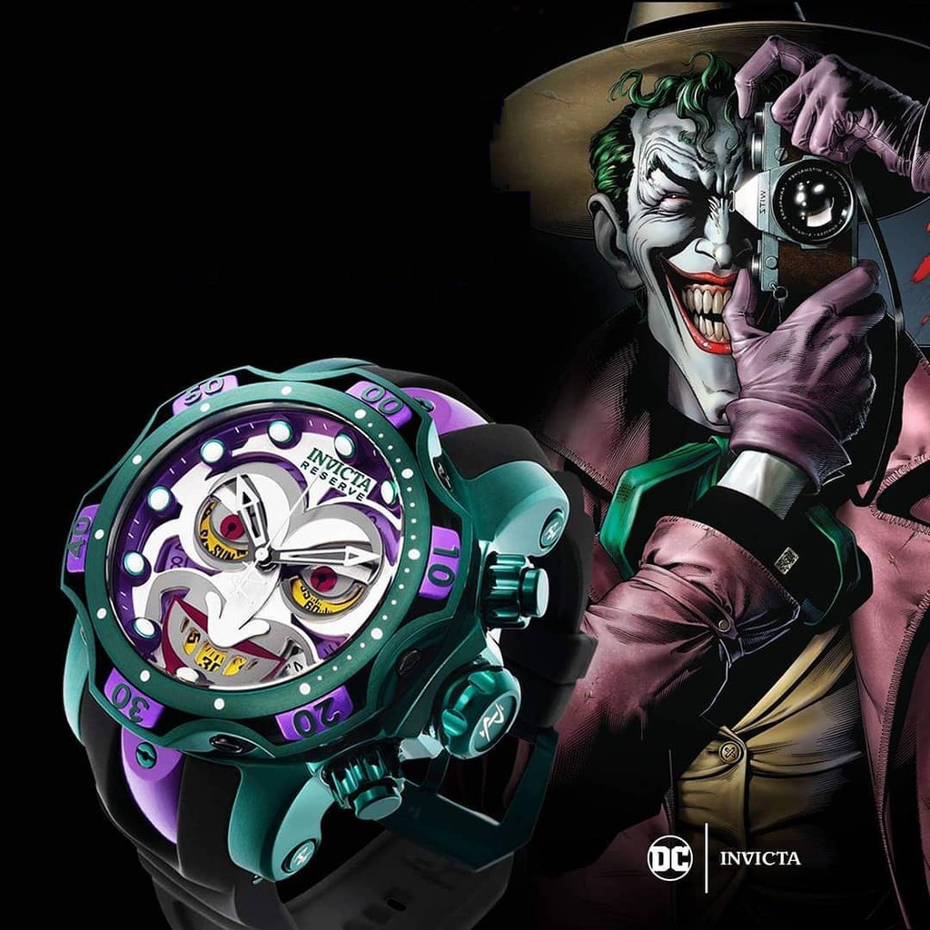代購invicta因維克塔DC漫威聯名小丑joker毒液多動能夜光男士手表