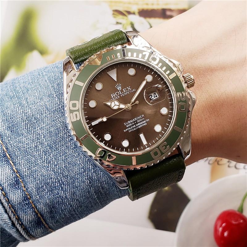 新款ROLEX 勞力士潛航者Supreme歐美街頭男士腕錶潮流時尚防水日曆 石英手錶 情侶手手錶 綠水鬼 黑水鬼 女表
