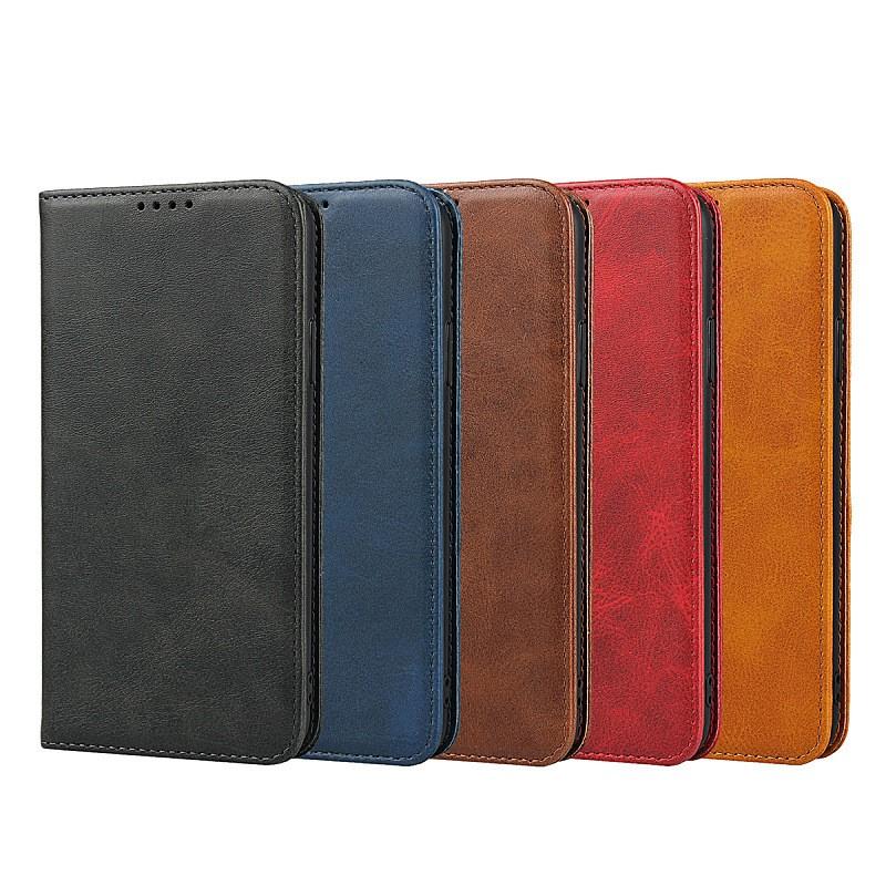 Samsung Galaxy A51 A71 5G 牛皮模擬皮保護套隱藏磁扣手機套皮套