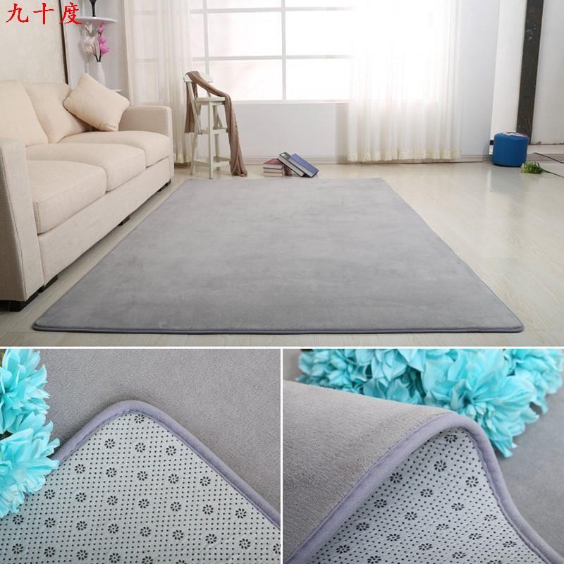 客廳地毯 珊瑚絨臥室床邊地墊 瑜伽健身房地墊70*160 100*120地墊 V4jJ