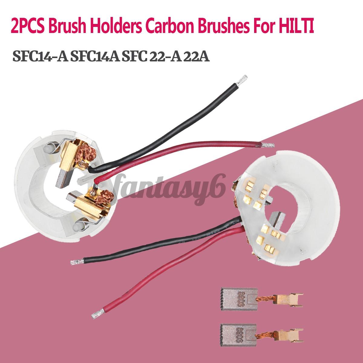 FANTASY6 1套刷架碳刷更換用於HILTI SFC14-A SFC14A SFC 22-A 22A