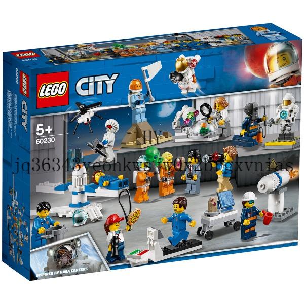 LEGO樂高積木60230城市系列太空研發人仔套裝兒童益智拼裝玩具