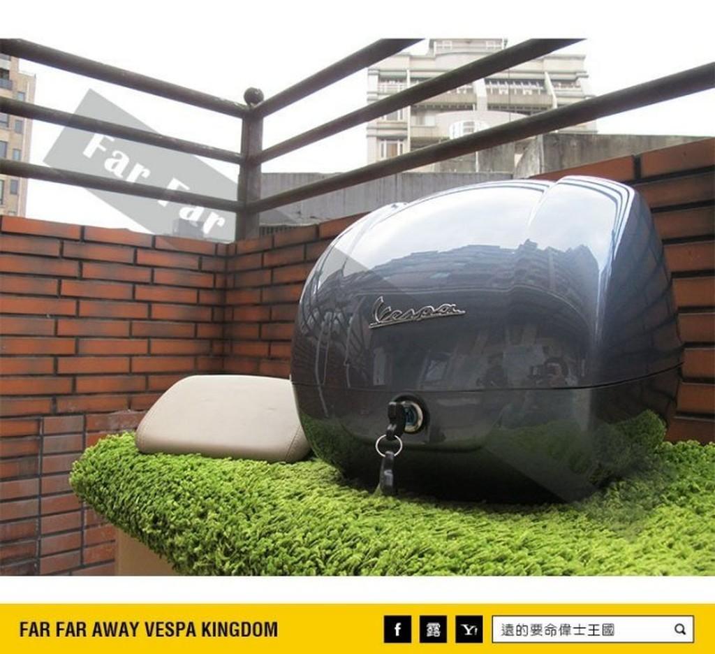 遠的要命偉士王國 Vespa PIAGGIO 新版 原廠 尾箱 GTS ie 藍鯨灰 旅行箱 安全帽箱
