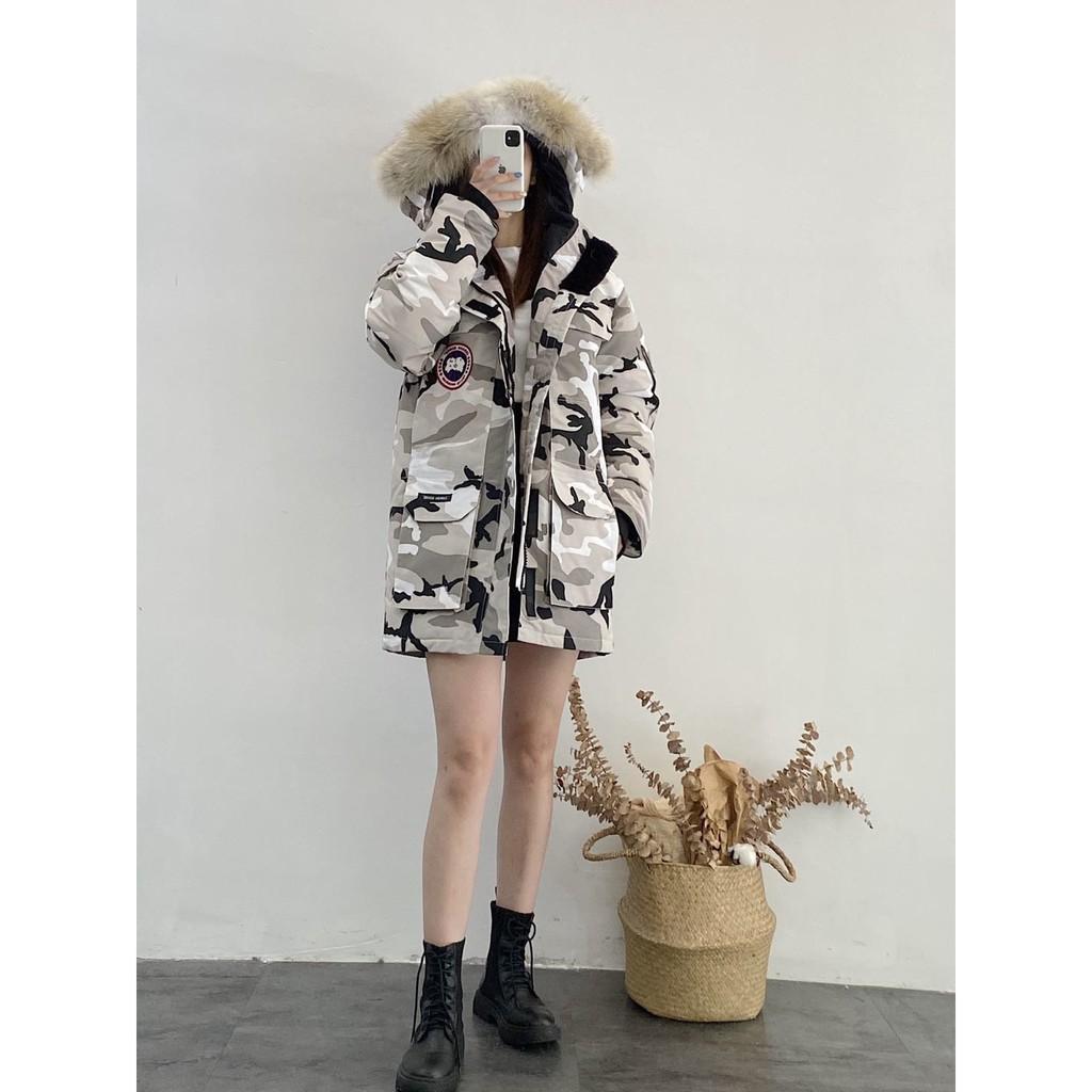 新款上市Canada Goose加拿大鵝 情侶羽絨服  男女款迷彩羽絨外套  防風厚款外套