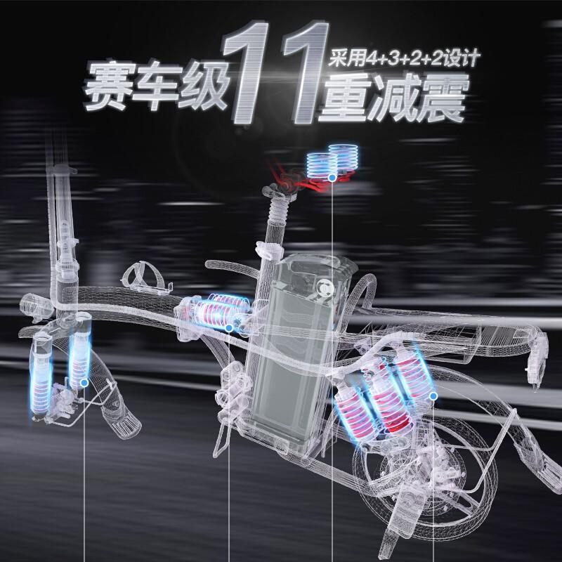 新款智能電單車TeamGee電動自行車折疊兩輪鋰電池男女上班代步車成人代駕電瓶車