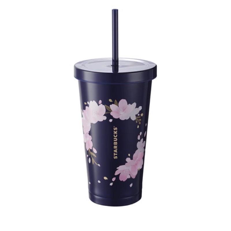 Starbucks 夜櫻還簇不鏽鋼TOGO冷水杯1299