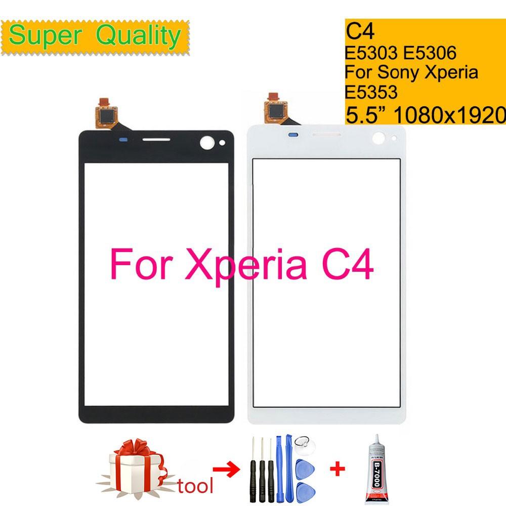 適用於Sony Xperia C4 E5303 E5306 E5353觸摸屏數字化儀前玻璃面板傳感器鏡頭DUAL E53