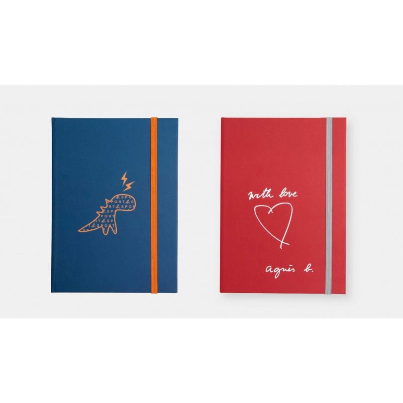 SPORT b恐龍閃電厚頁筆記本-康是美 x Agnès b. Agnes b. 筆記本 (藍色款)