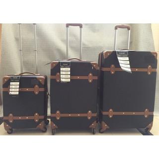 英倫風格復古行李箱28吋旅行箱輕型硬殼行李箱 託運箱 黑色 高雄市