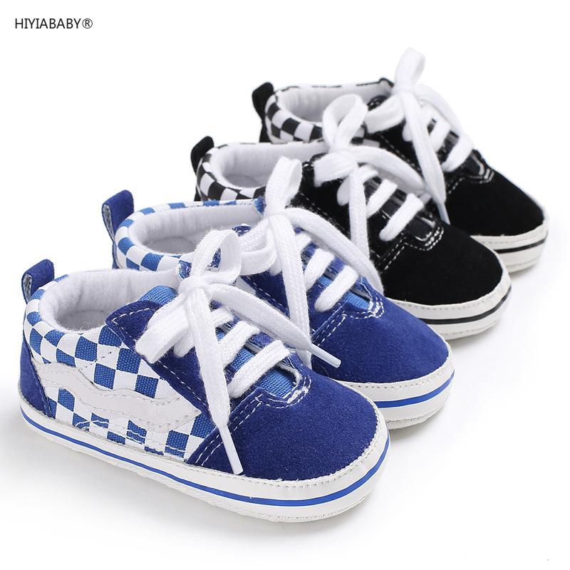 0-1歲男寶寶格子休閑軟底鞋防滑嬰兒學步鞋寶寶鞋子