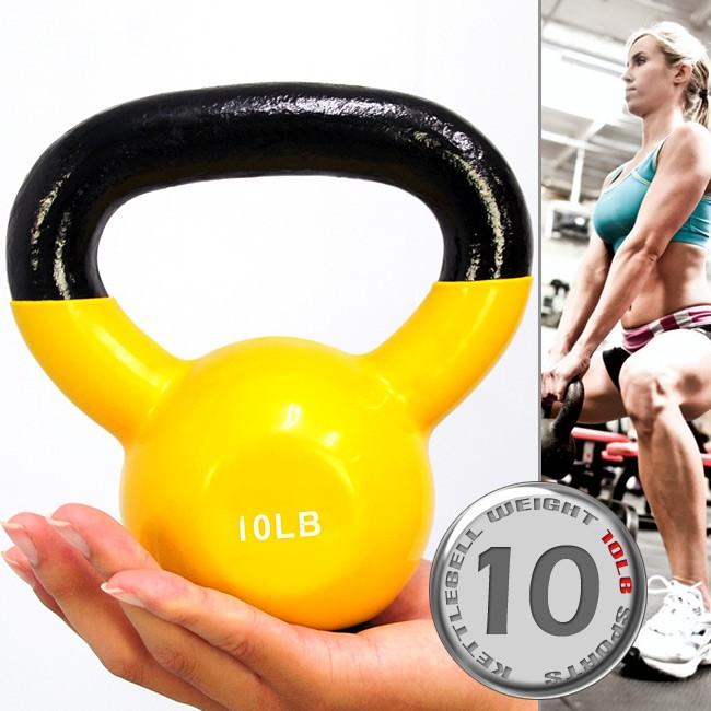 包膠10磅壺鈴(實心鑄鐵+橡膠底座)C113-2010浸膠10LB拉環啞鈴4.5KG搖擺鈴4.5公斤舉重量訓練