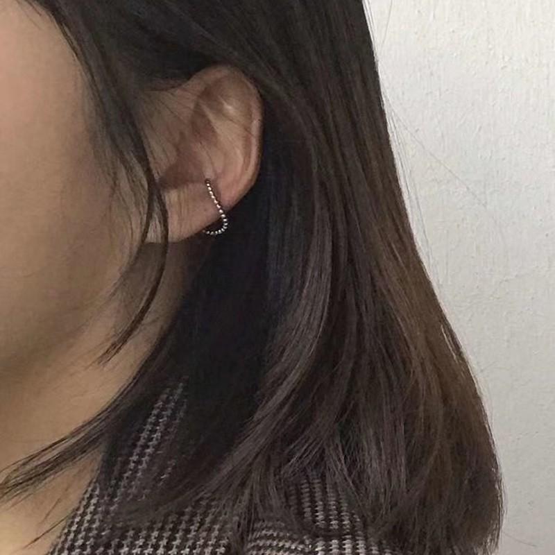 正韓 [銅.耳夾單只] 點點圓珠線條耳骨夾 beads line ear cuff【NN206】