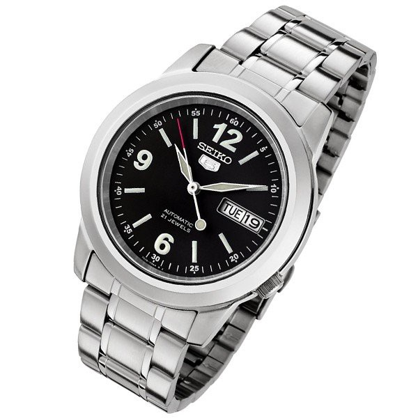 SEIKO錶  精工錶盾牌5號  自動錶. 標準紳士機械錶SNKM41K1 SNKE63K1-黑色面