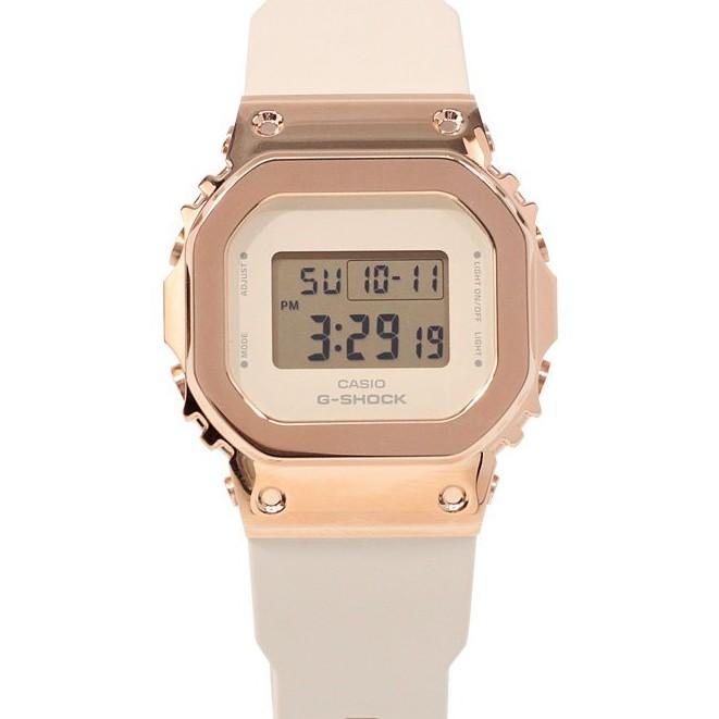 卡西歐金屬方塊手錶女 G-SHOCK小銀塊玫瑰金塊GM-5600 GM-S5600PG