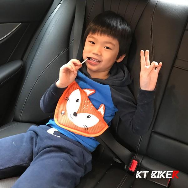 【KT BIKER】 卡通 安全帶固定器 兒童 安全帶護套 防勒脖 護肩 韓版 〔CSB009〕