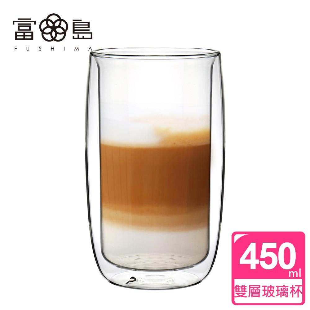 【FUSHIMA 富島】英倫系列雙層耐熱玻璃杯450ML