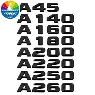 賓士A45 A140 A160 A180汽車車尾門後備箱裝飾車標貼 數字字母排量標A180 GLA CLK w211