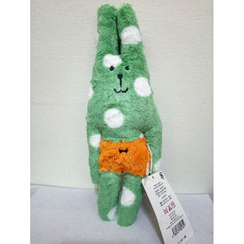 日本帶回~全新正版CRAFTHOLIC宇宙人萬聖節水玉點點南瓜兔SS迷你款抱枕/布偶