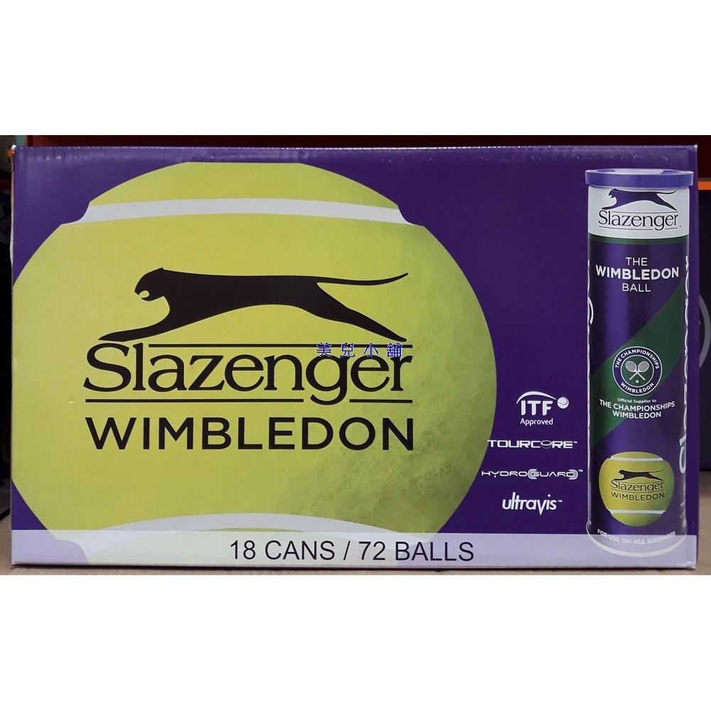 美兒小舖COSTCO好市多代購~Slazenger 筒裝網球(18桶/箱,共72顆)溫布頓指定專用球
