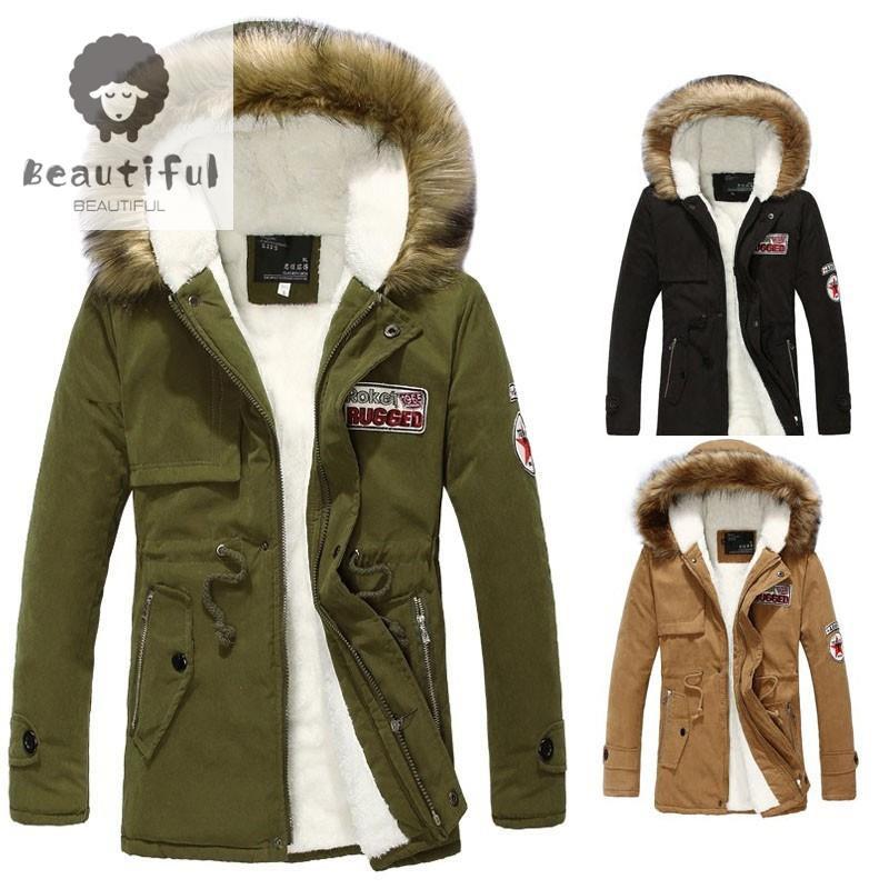┅【特價】韓版男女可穿保暖外套 時尚連帽軍裝外套 加絨加厚防風外套 男士風衣 大衣 羽絨服 情侶夾克 高質量保證 熱賣外