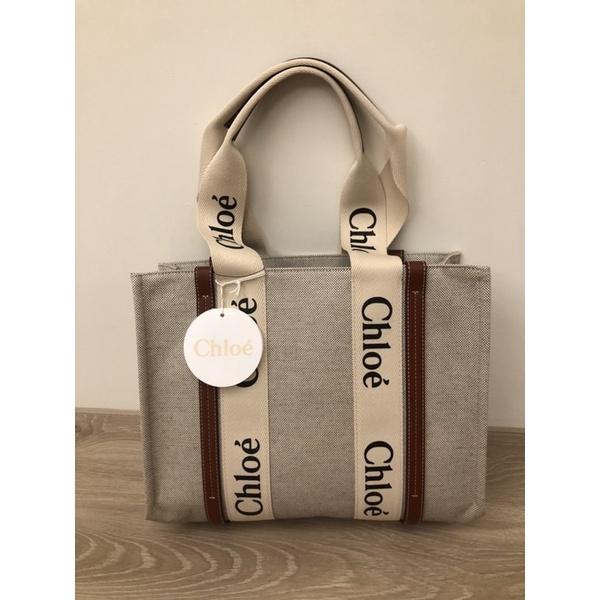 Chloé中號帆布托特包  Chloe Woody Tote Bag  medium