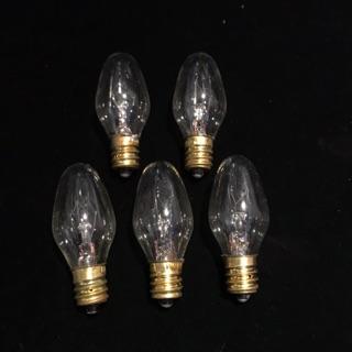 鹽燈用燈泡5顆裝 鎢絲燈泡 10瓦-60瓦