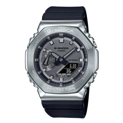 【八度空間】CASIO G-SHOCK 簡約獨特金屬質感八角型錶殼 GM-2100-1A