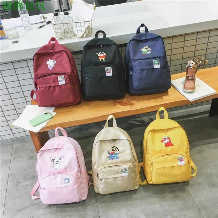 現貨熱銷.🎈漫時光👣蠟筆小新後背包 韓國SPAO 學生書包 帆布包 動感超人 電腦包 雙肩包 背包