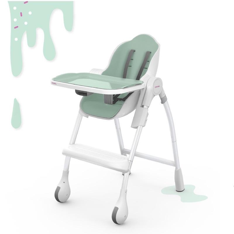 「二手」新加坡Oribel成長型多功能高腳餐椅-馬卡龍綠