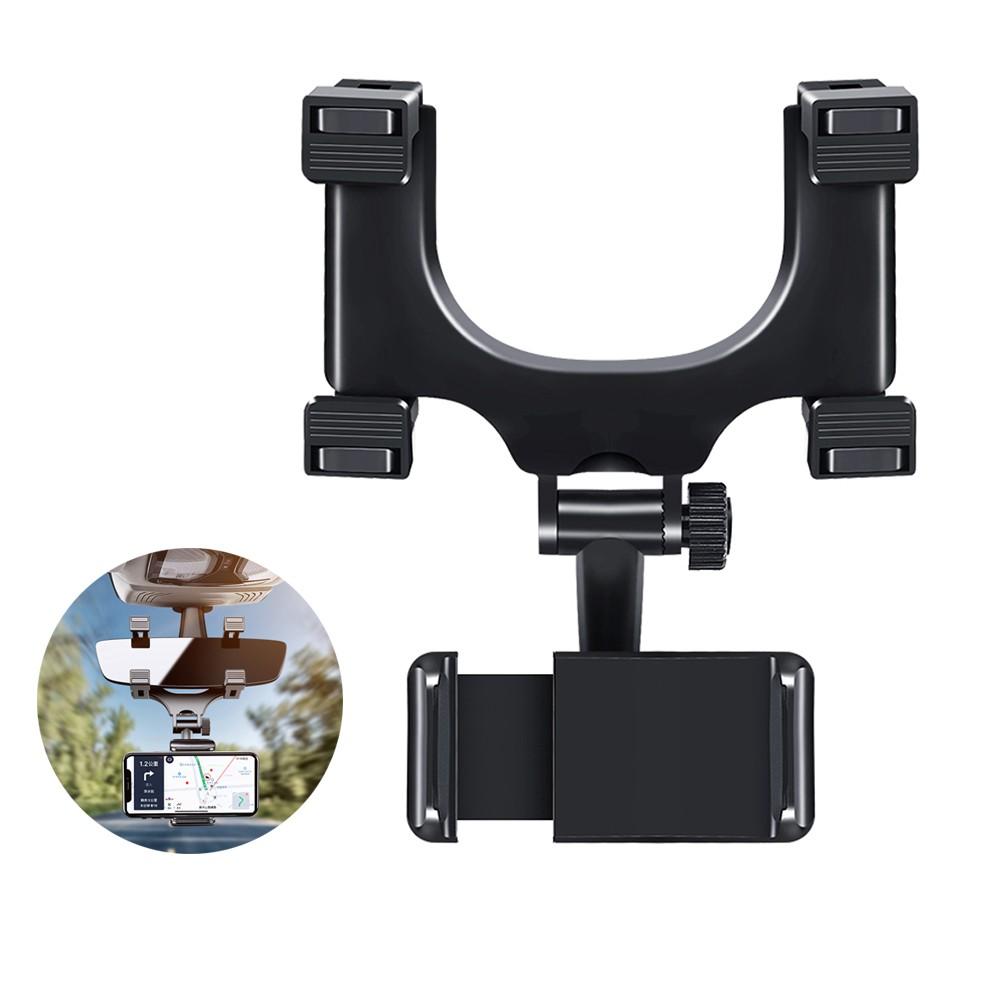 ANTIAN 汽車後視鏡手機支架 多功能車載導航支架 車用手機夾 穩固支撐手機架 通用 蝦皮直送