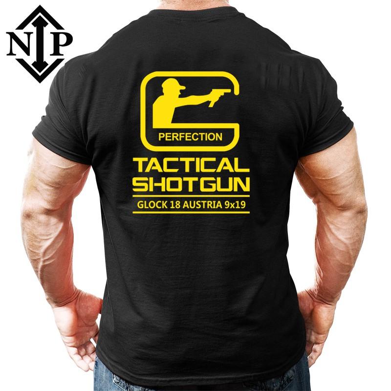 GLOCK格洛克體恤  NIP軍迷男士夏季直筒寬松IPSC IDPA戰術短袖T恤