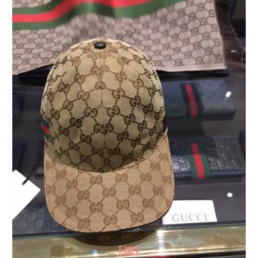 歐洲代購 GUCCI GG Supreme 皮革 貼片 棒球帽 帽子 鴨舌帽 米色 576253