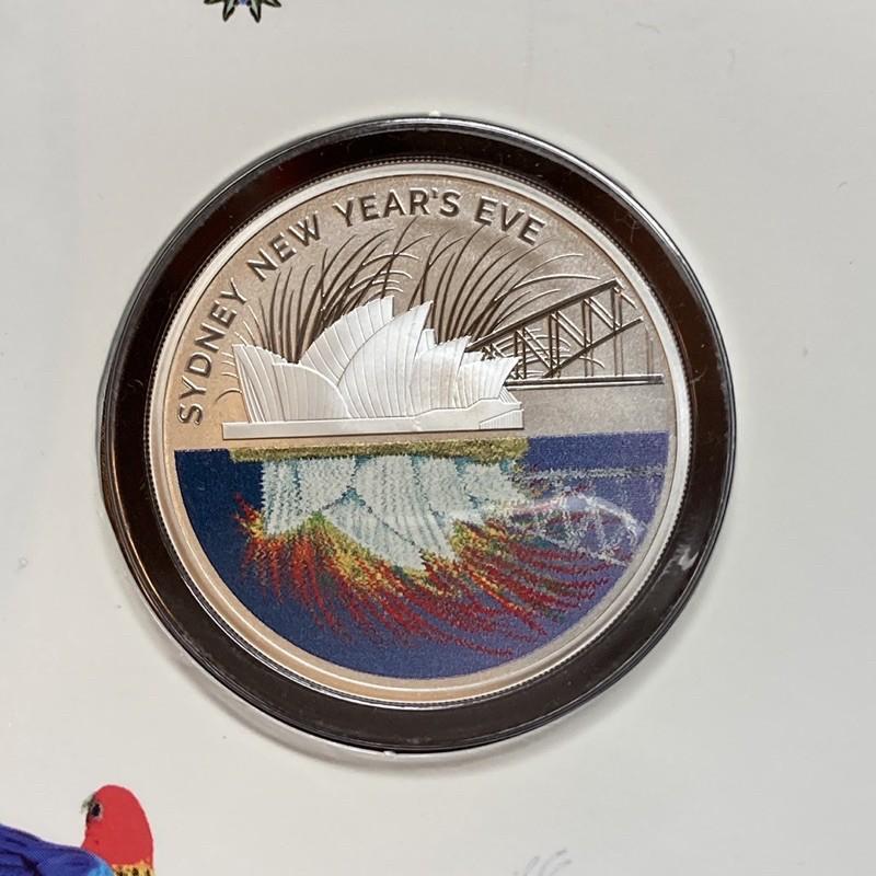 C's🇦🇺澳洲2015年雪梨跨年煙火精鑄紀念銀幣1/2盎司/ 雪梨歌劇院 雪梨大橋 新年 除夕 硬幣 澳大利亞