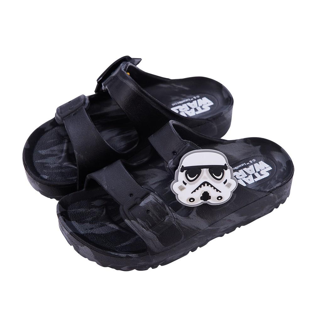 迪士尼童鞋 星際大戰 迷彩風輕量防水拖鞋-黑