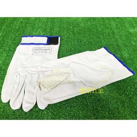 (附發票)金派五金~~VESCO 電焊機專用 黏扣式設計皮手套 電焊手套 氬焊用 防護手套 焊接手套 台製