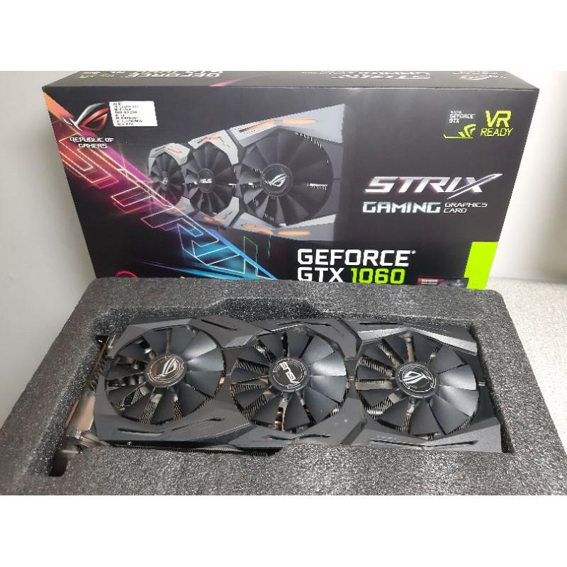 ASUS華碩 ROG STRIX GTX1060 6g 保固到:2021/8/23
