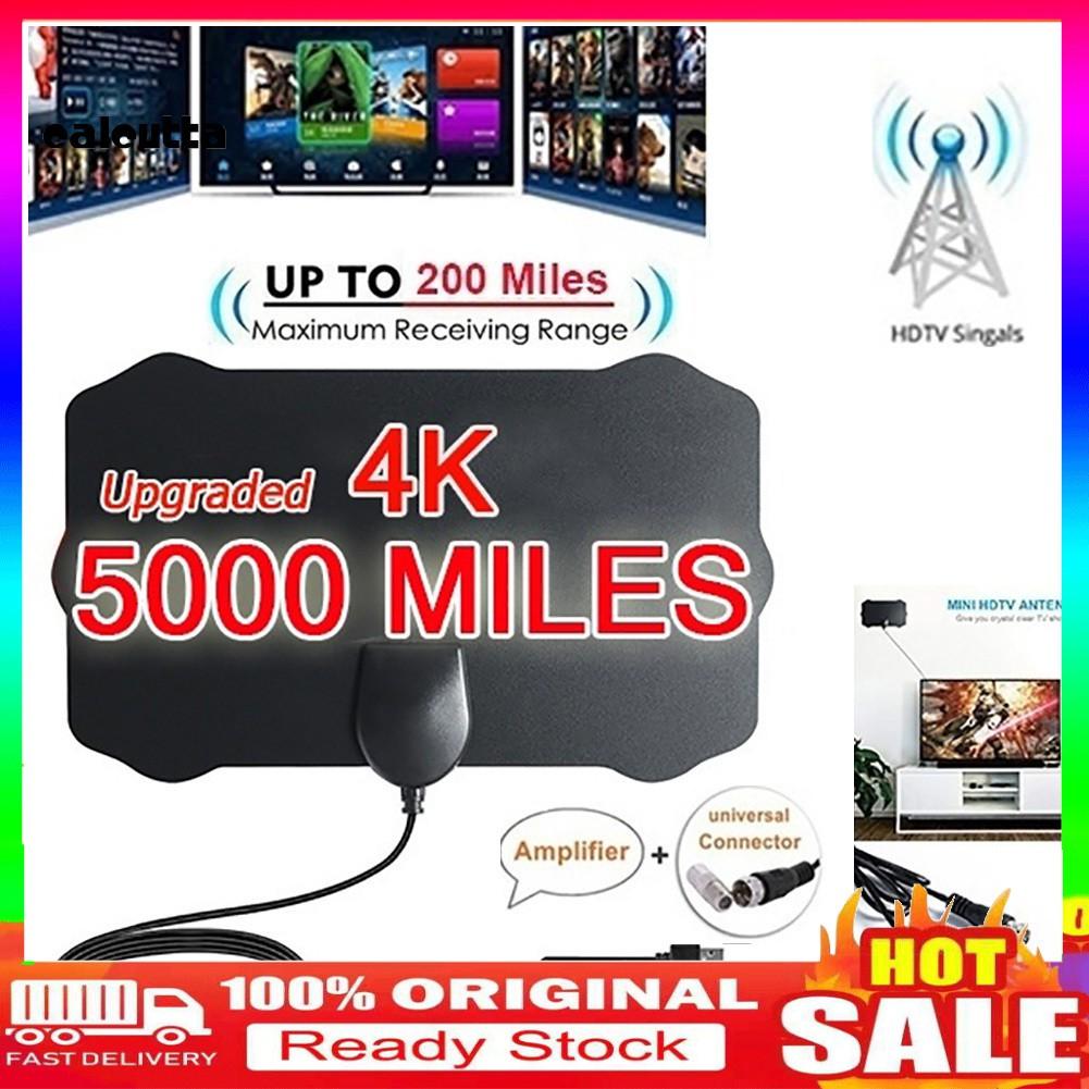 迷你盾形高清電視天線4K高清室內數字電視天線信號放大器