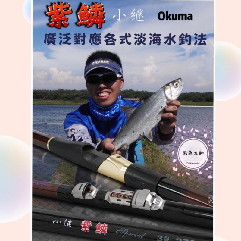 【釣魚大師 Fm】Okuma 寶熊✨紫鱗小繼竿✨ 港口 防波提 碼頭 池子 烏鰡 沉底 磯釣 通用竿🔥🔥