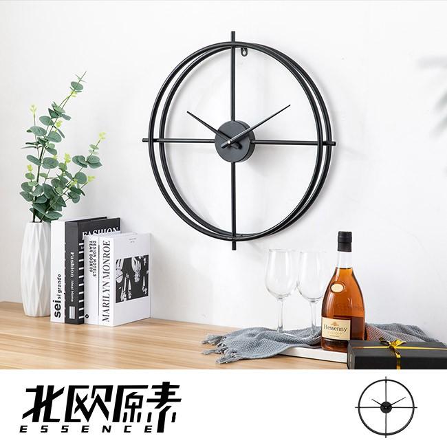 【北歐原素】極簡雙環造型掛鐘 時鐘 鐵藝 創意 簡約 北歐風(LS0110)