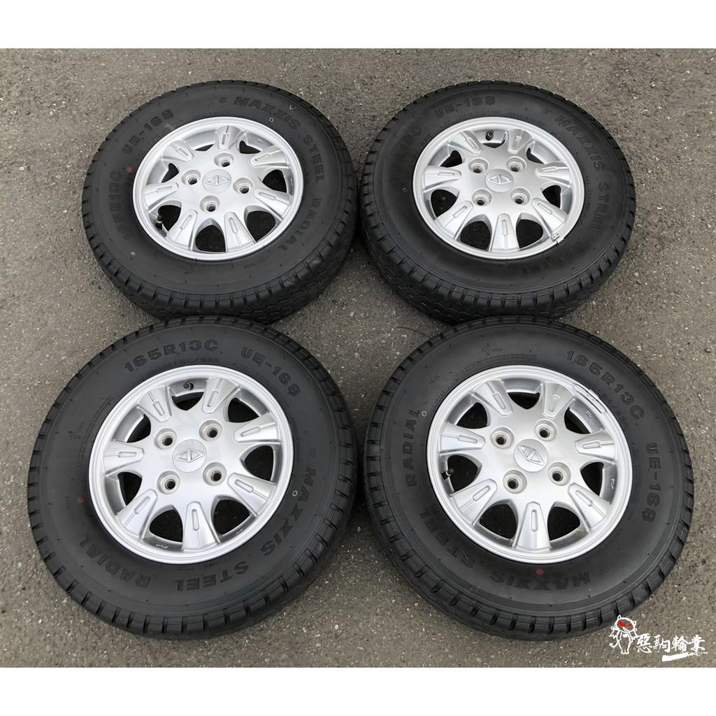 二手/新車落地鋁圈輪胎 原廠 中華菱利 Veryca A180 13吋 4孔114.3 銀 含胎 瑪吉斯 165R13C