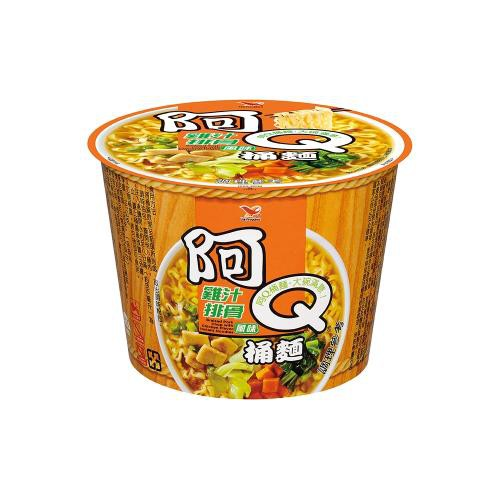 🚀箱購免運🚀24碗🚀阿Q桶麵 雞汁排骨風味桶12入/箱*2箱**宅配免運**可刷卡/可分期**