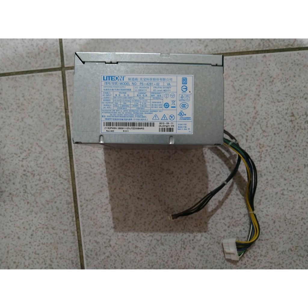 Lenovo聯想 M92P M82 LITEON光寶 PS-4281-02 80+銅牌 14PIN+4PIN 電源供應器