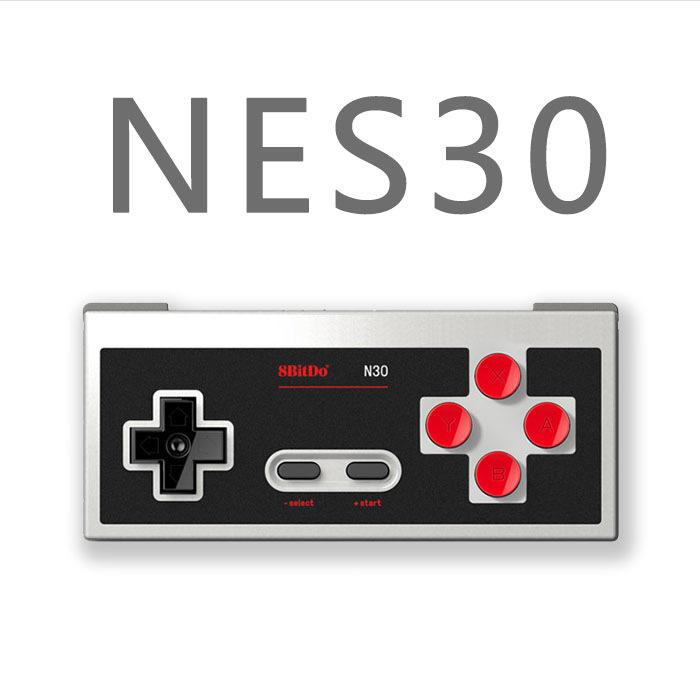 8Bitdo N30黑色版無線藍牙遊戲手柄支持steam安卓電腦MAC