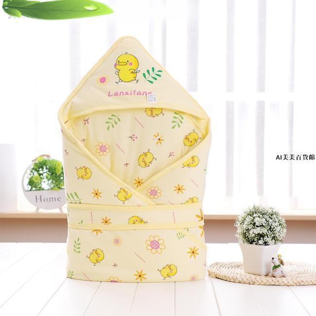 嬰幼兒裝包屁衣新生兒抱被純棉初生嬰兒春秋包被寶寶包巾蓋毯襁褓裹巾小被子用品AI美美百貨館