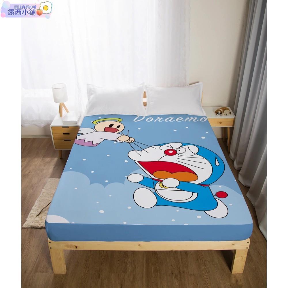 露西🌱【哆啦A夢床包專場】小叮噹床單 單人/雙人/加大床包 哆啦A夢床包 鬆緊帶床罩 Doraemon 哆啦A枕頭套