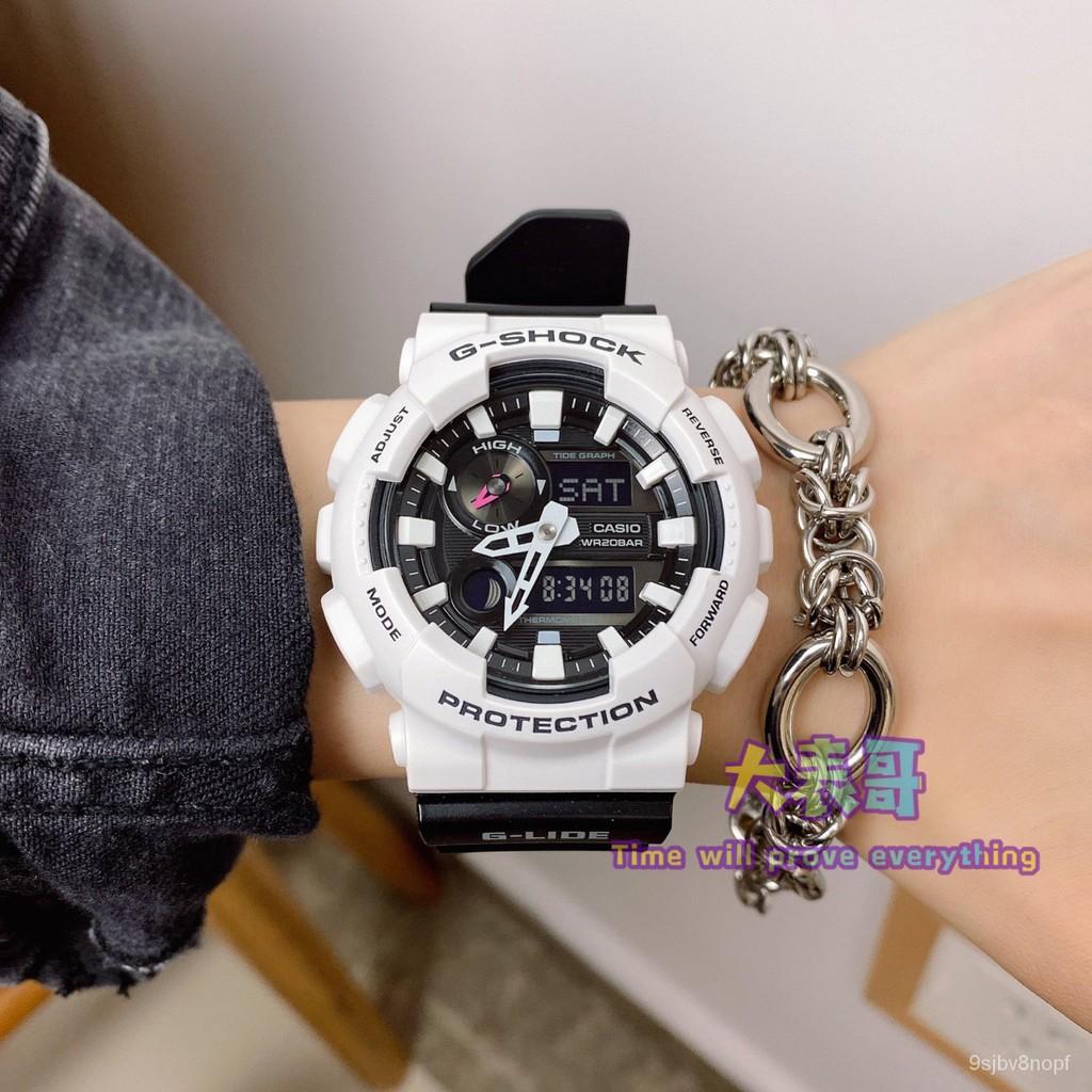 新款CASIO卡西歐G-SHOCK潮汐溫度防水男/女手錶 GAX-100B-7A/1A