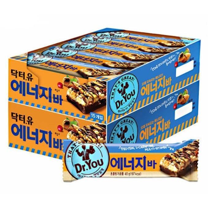 [韓國ORION 好麗友] Dr. You 低卡巧克力能量棒 600g(15入) x 2盒