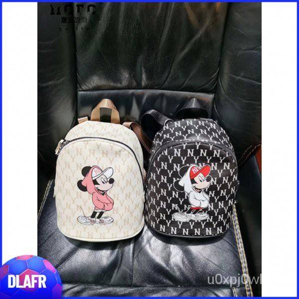 MLB x 米奇 款 腰包 後背包 米奇 洋基 NY 韓國代購  小後背包 小雙肩包 女生背包 雙肩包 特賣DLRFA