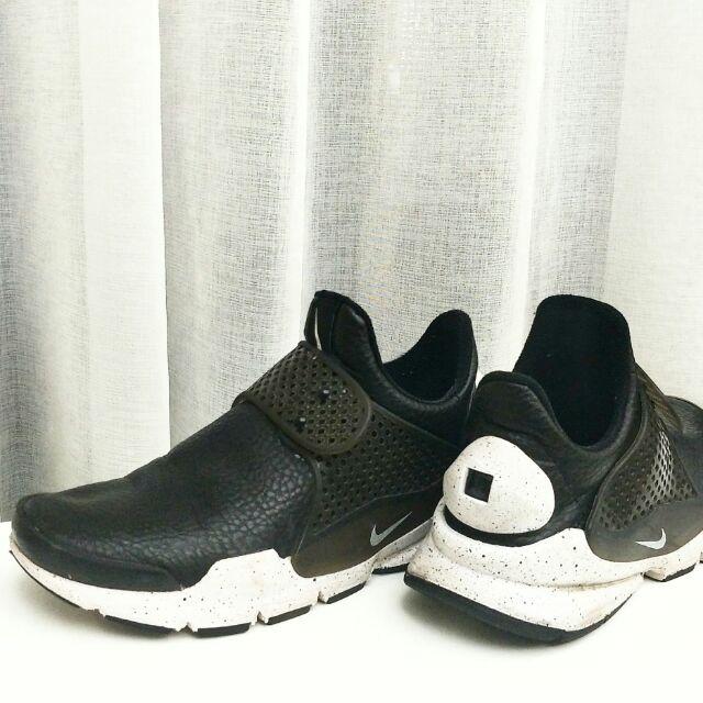 皮革款 #九成新 黑白 潑墨 襪子鞋 襪套鞋 女鞋 881186-001  #免運